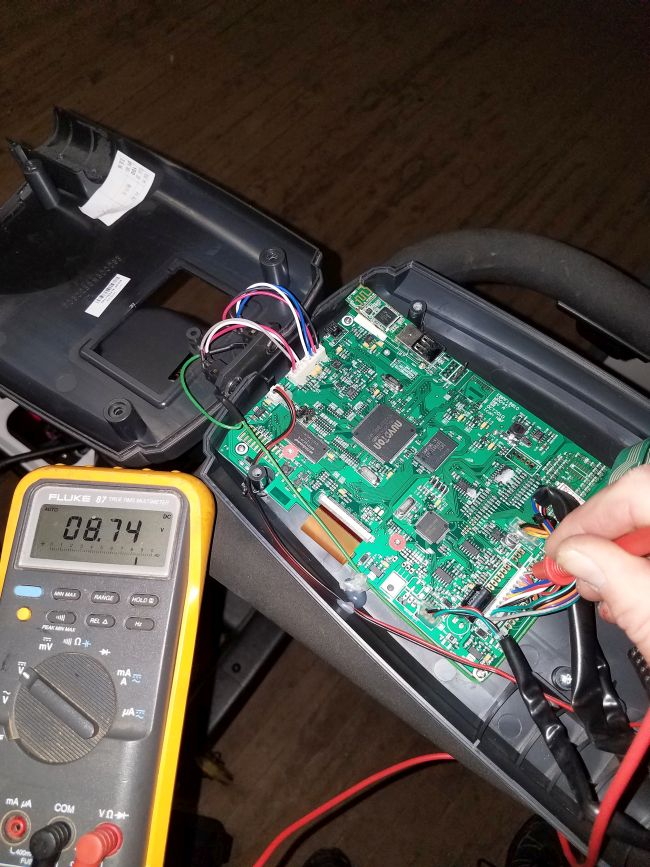 Diagnosing using a voltage meter